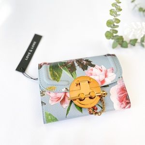 NWT Floral Trifold Wallet